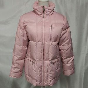 1 Madison Pink Down Feathers Puffer Coat